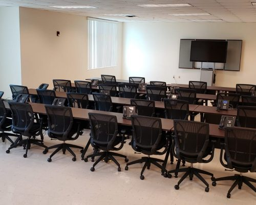 Media room with teleconference capabilities